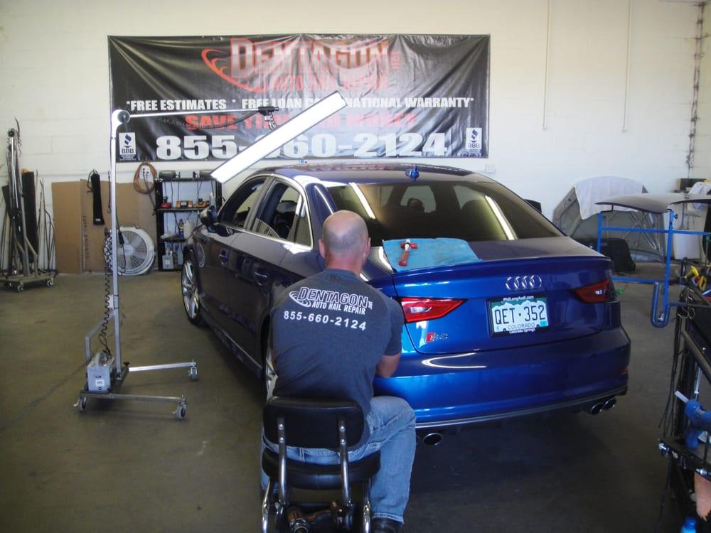 Dentagon auto hail repair 14 reviews mobile dent for Colorado springs motor city