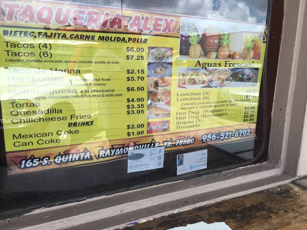 Taqueria Alex: 165 S 5th St, Raymondville, TX