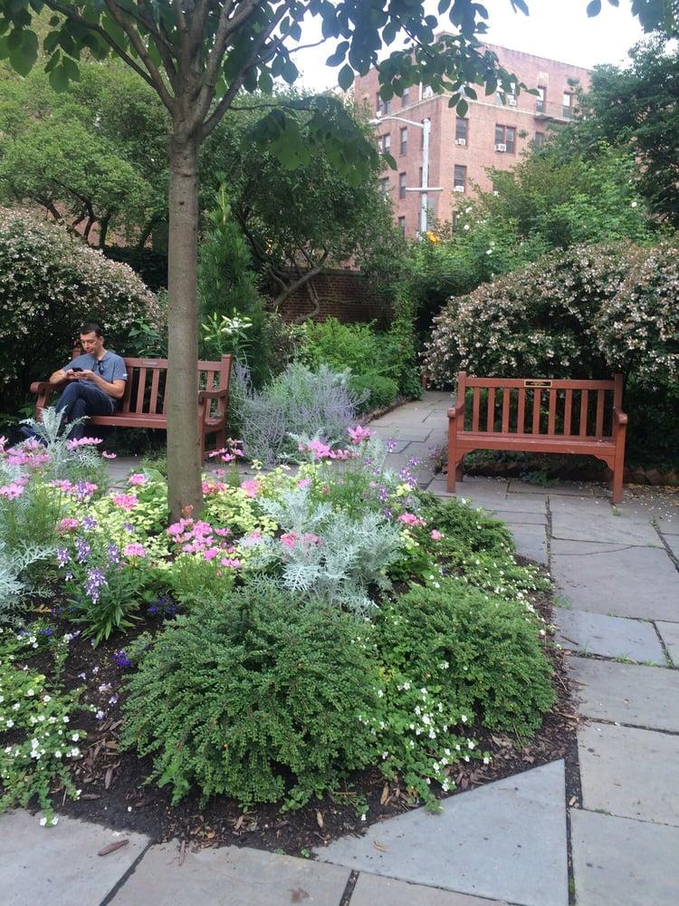 Beautiful public church garden in the West Village Yelp