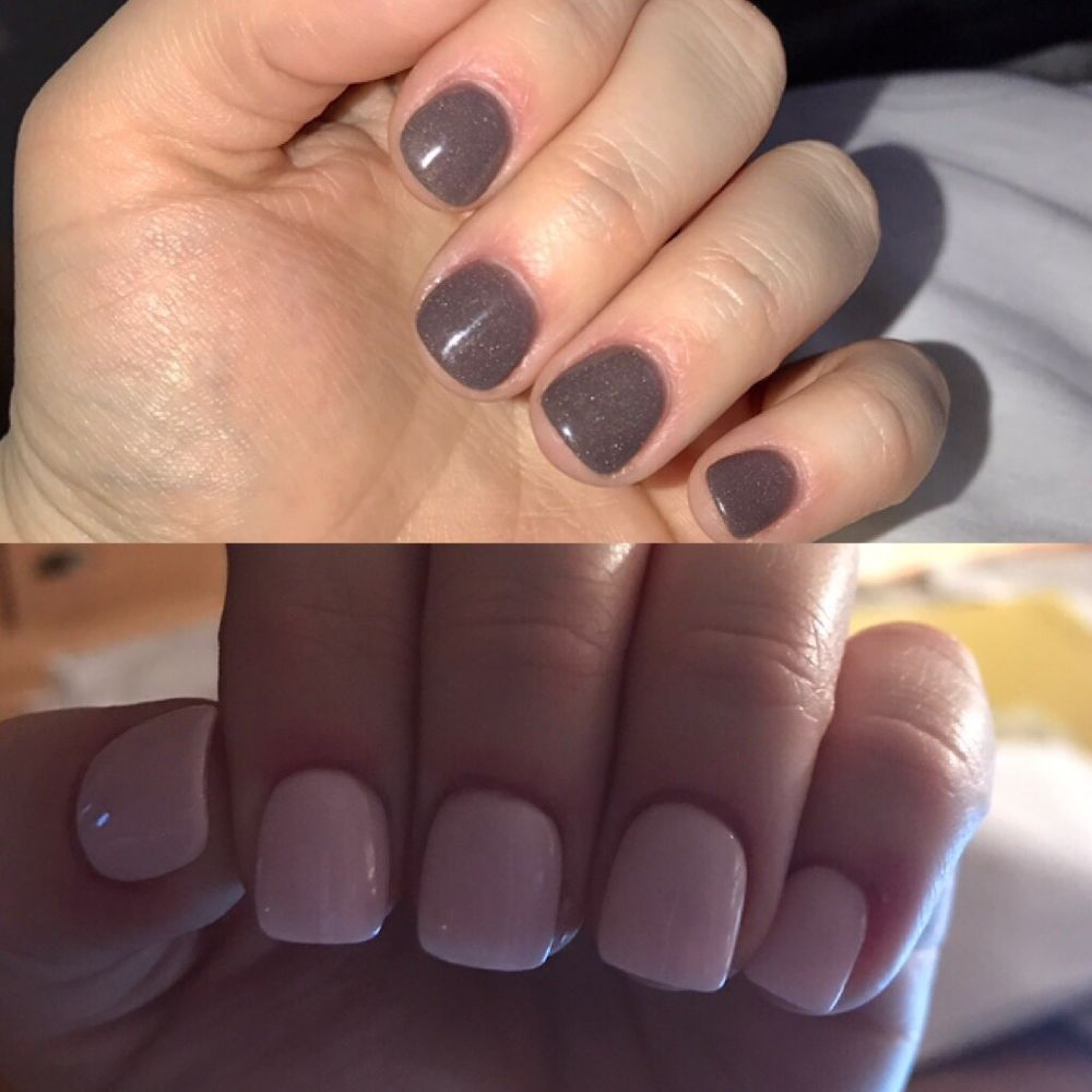 One month difference with SNS nails. natural nails. no tips or ...