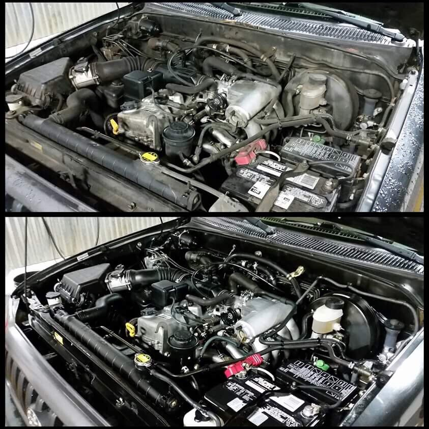 how to clean a vehicle engine bay