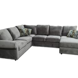 Photo Of 501 Furniture   Myrtle Beach, SC, United States. Hughes Grey  Sectional ...