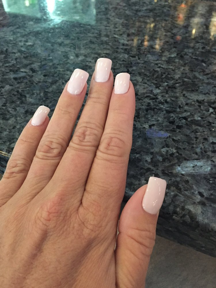 Love my powder dip nails with OPI Let\'s be friends gel polish!!! - Yelp