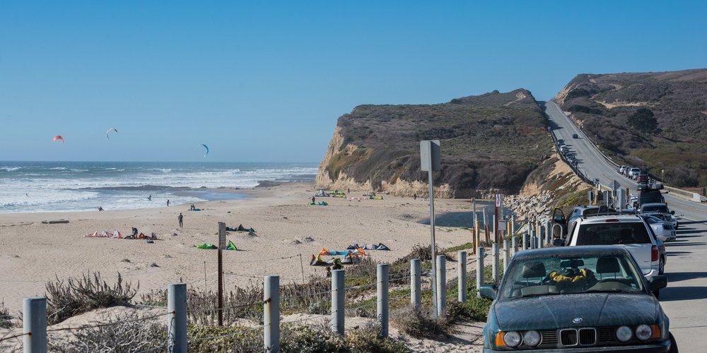Scott Creek Beach: Cabrillo Hwy, Davenport, CA