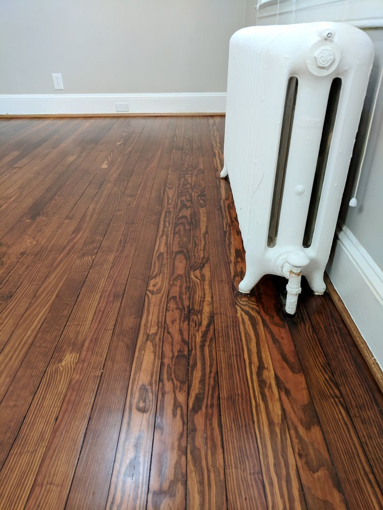 Heart Pine With Early American Minwax Stain Yelp