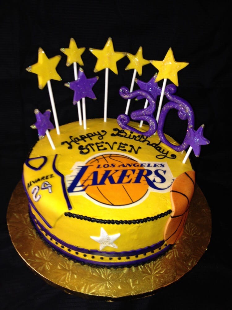 Lakers Cake With Purple And Gold Marble Cake 11114 Yelp