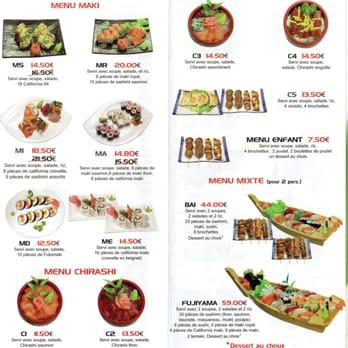 Restaurant Fujiyama Carte