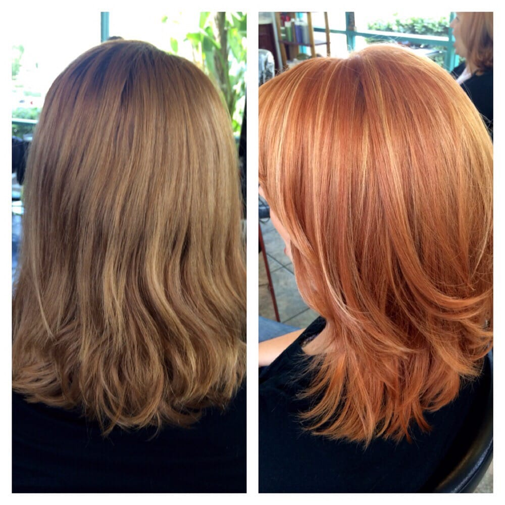 Before And After We Went From A Cool Light Brown To A