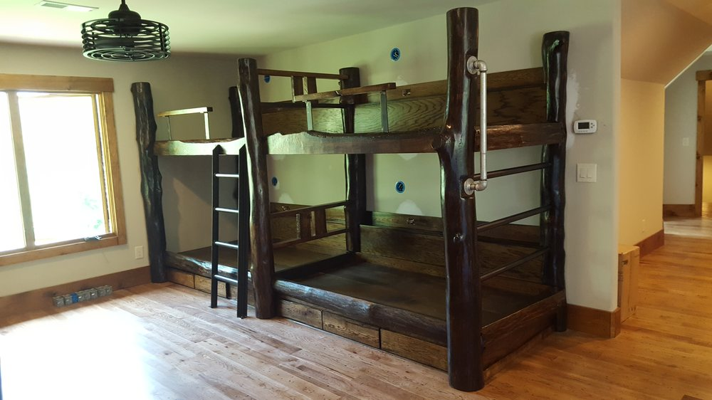 Photo of Seneca Treehouse Project - Seneca, SC, United States. Rustic bunk  beds