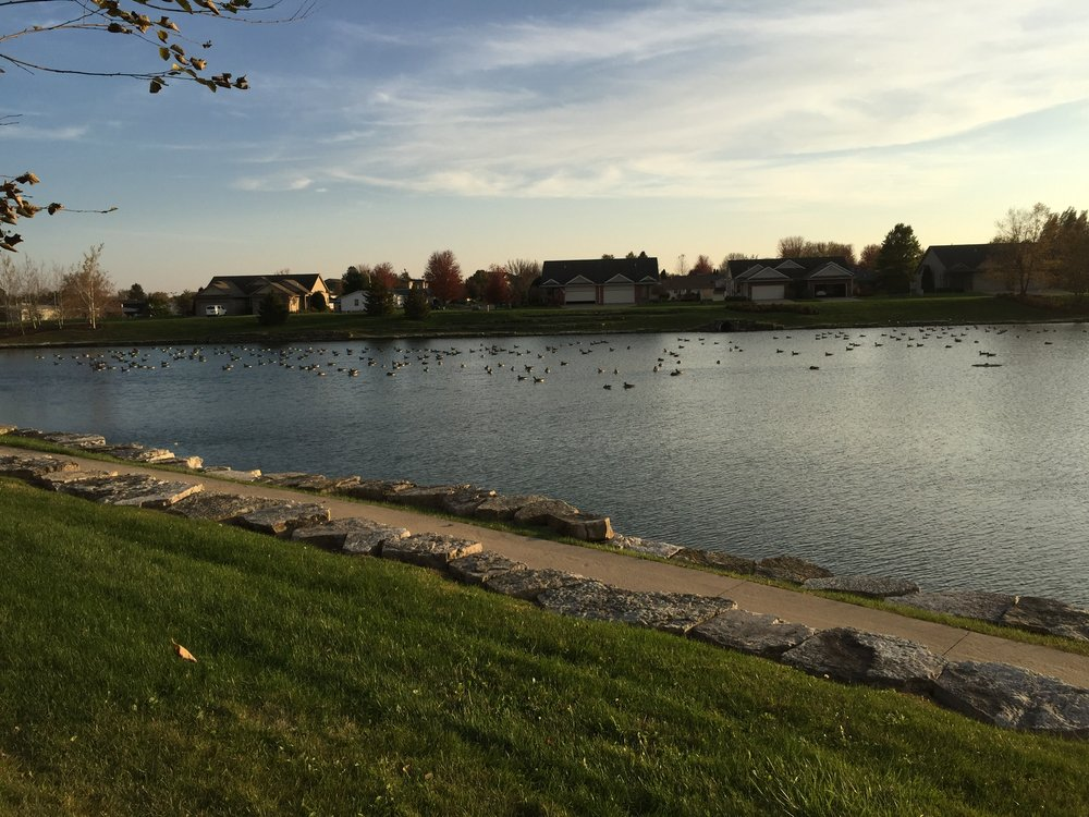 Liberty Centre Pond: 650 W Cherry St, North Liberty, IA