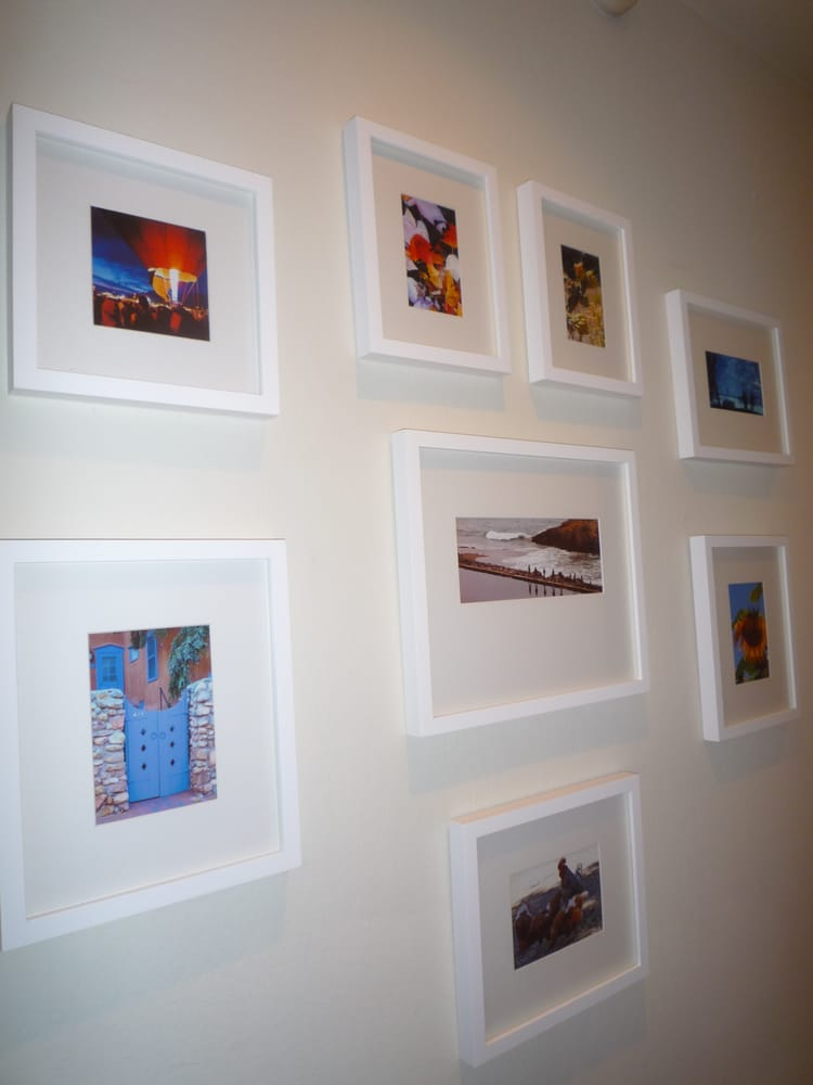 Hall Gallery Wall Monterey White With Pottery Barn Frames