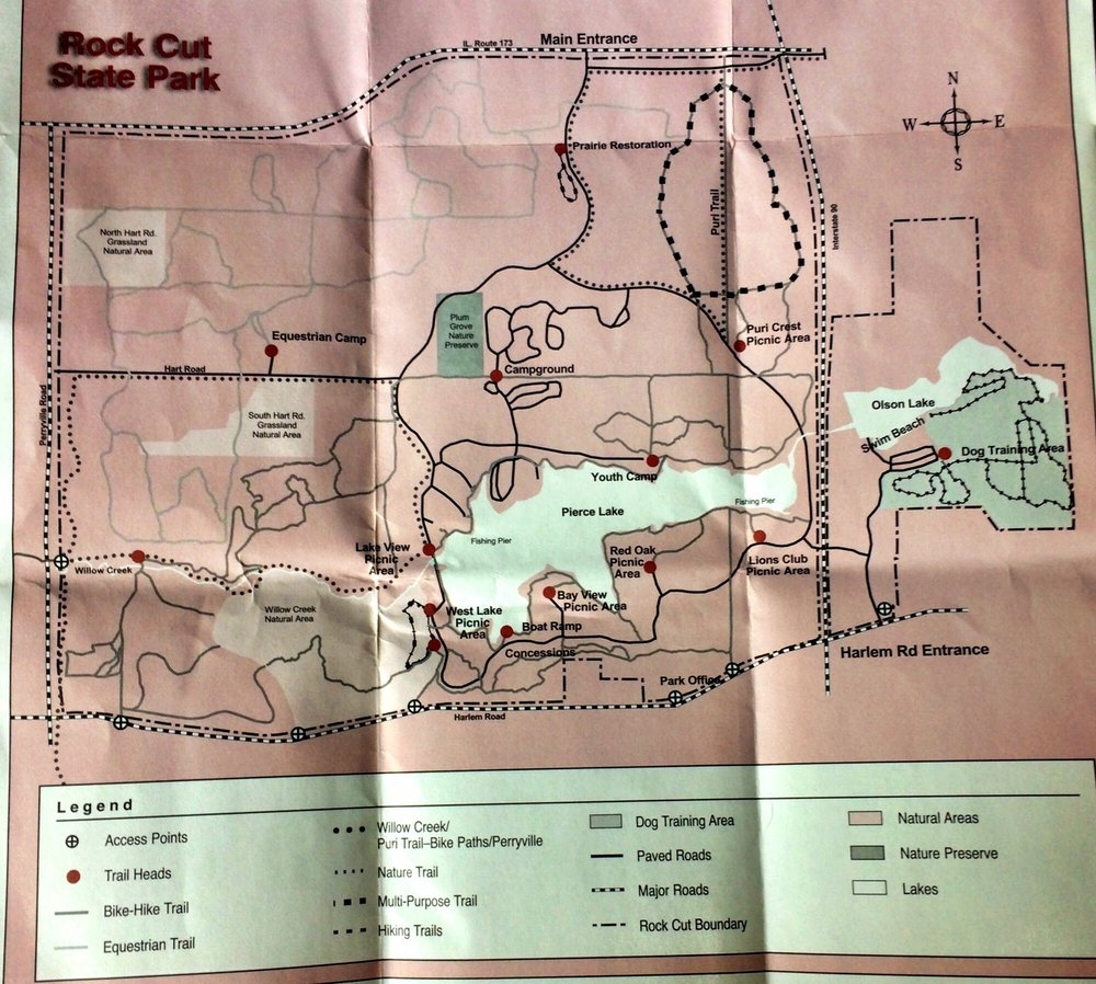 Map of the park. - Yelp