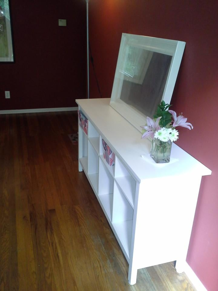 Our newly refurbished entryway with a lovely hemnes side for Ikea conshohocken pennsylvania