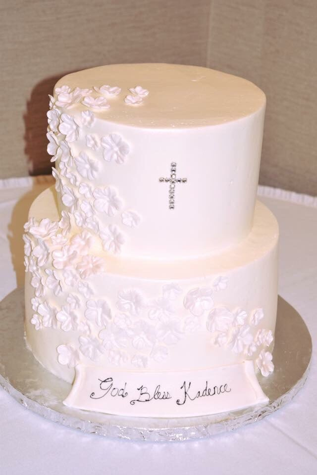 Simple But Beautiful Baptism Cake Yelp