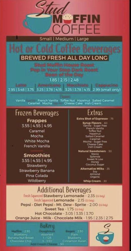 Stud Muffin Coffee: 135 S Valdosta Rd, Lakeland, GA