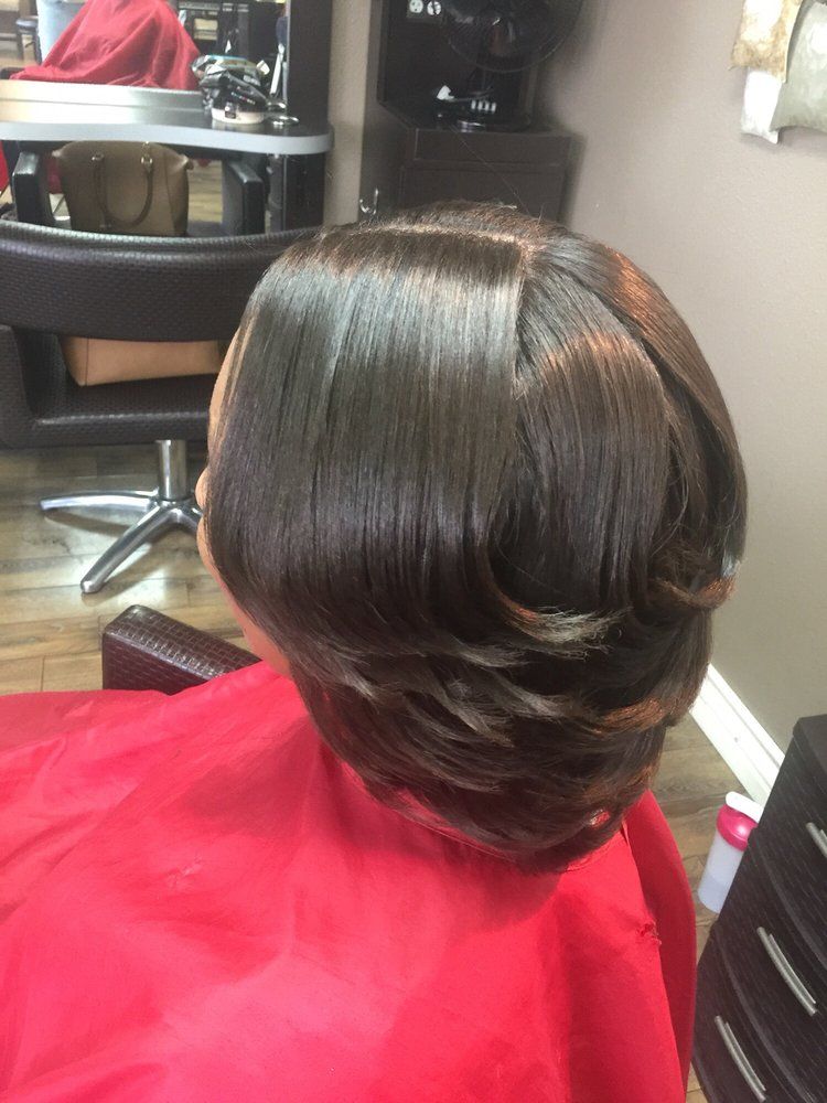 After Press And Haircut Shampoo Blow Dry Curl And Style Yelp