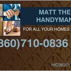 Matt The Handyman Handyman Norwich Ct United States