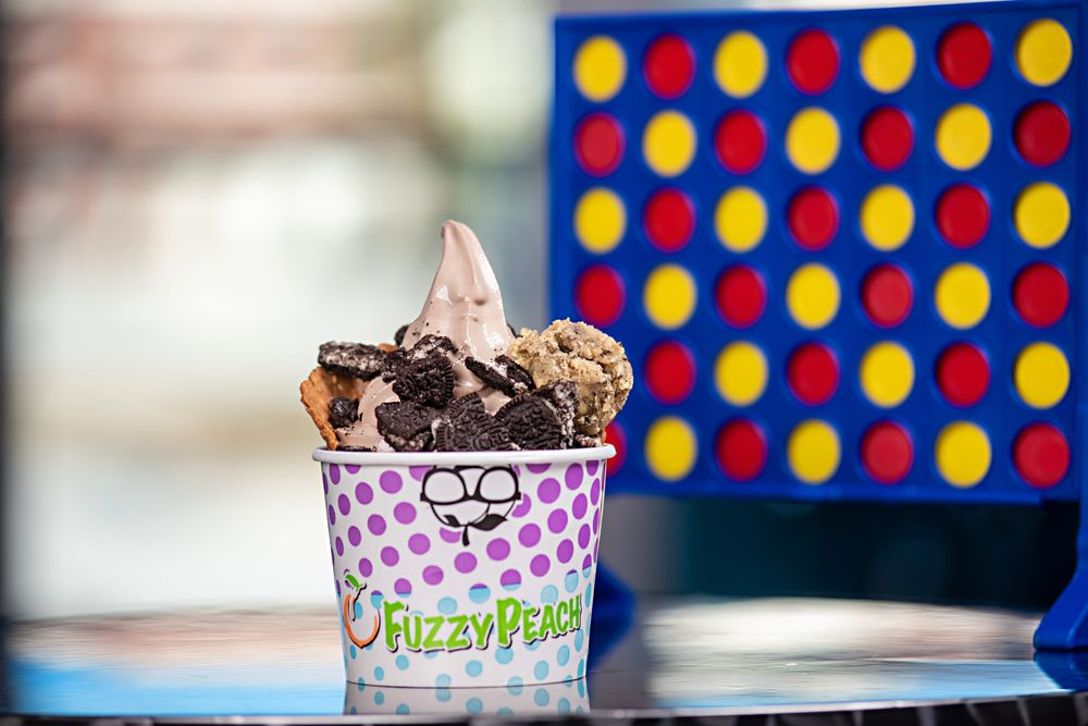 The Fuzzy Peach Frozen Yogurt Bar: 317 Wb McLean Dr, Cape Carteret, NC