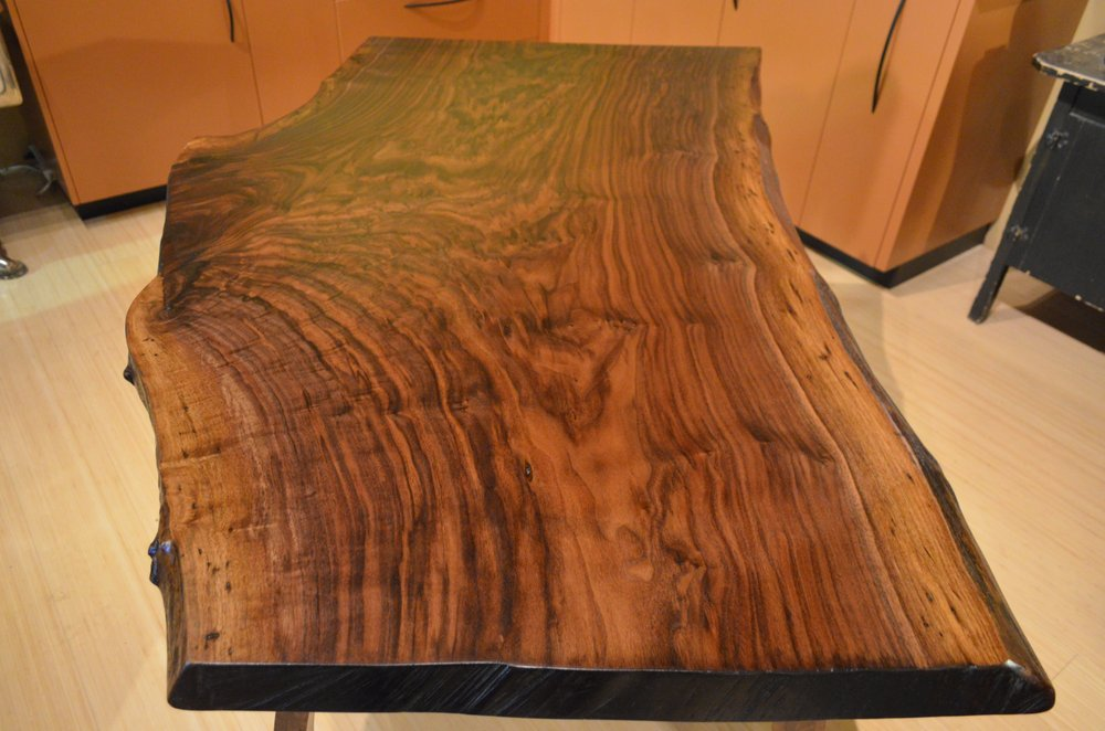Enjoyable Live Edge Black Walnut Table By Bamboo Craftsman Yelp Download Free Architecture Designs Sospemadebymaigaardcom
