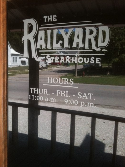 Railyard Steak House: 606 E Broadway St, Brunswick, MO