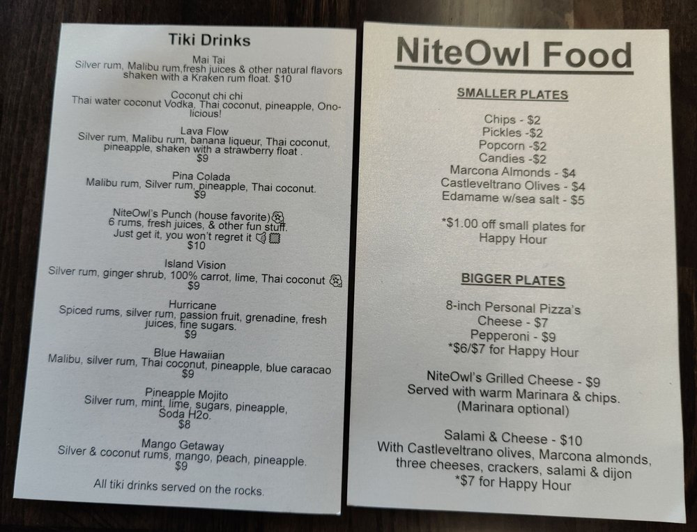 NiteOwl Bar: 737 Main St, Klamath Falls, OR