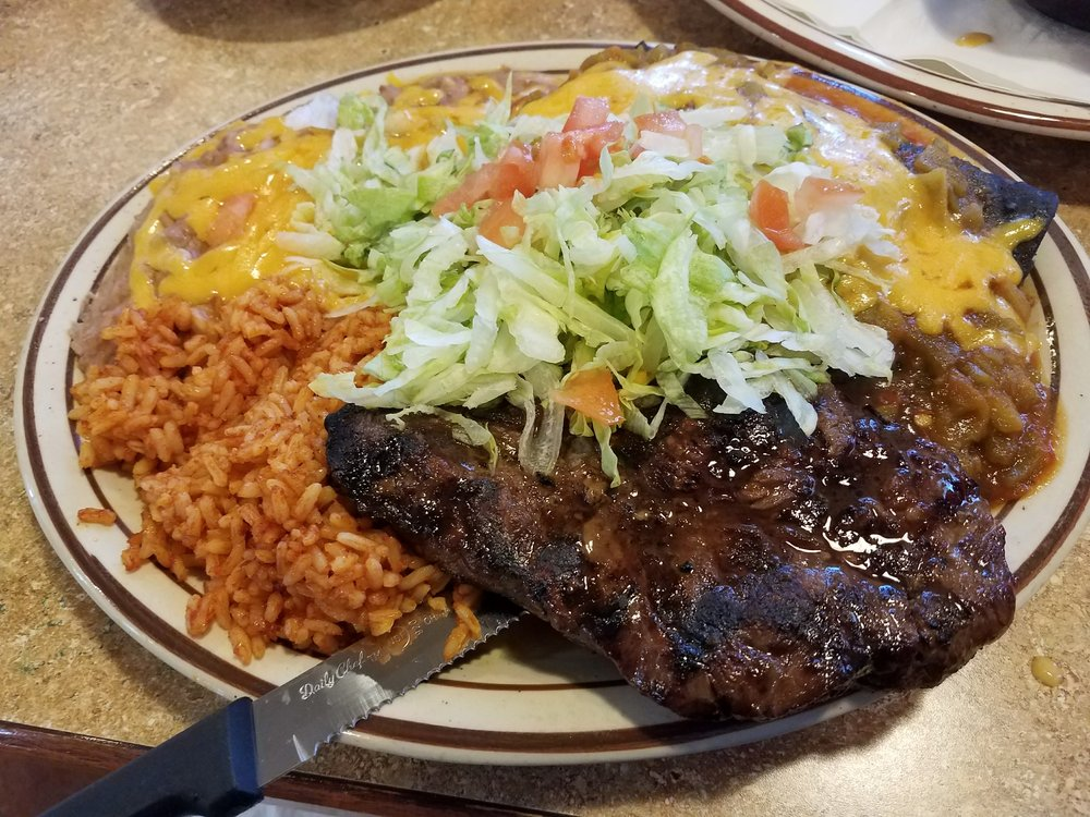 Steak And Enchiladas Plate Yelp