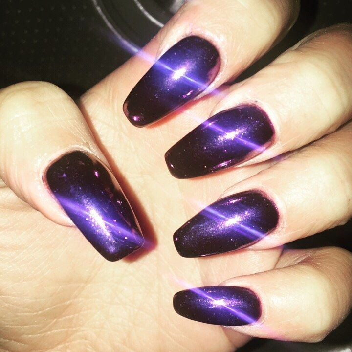 Marilyn Merlot gel polish with chrome # 3 (little pink undertone ...