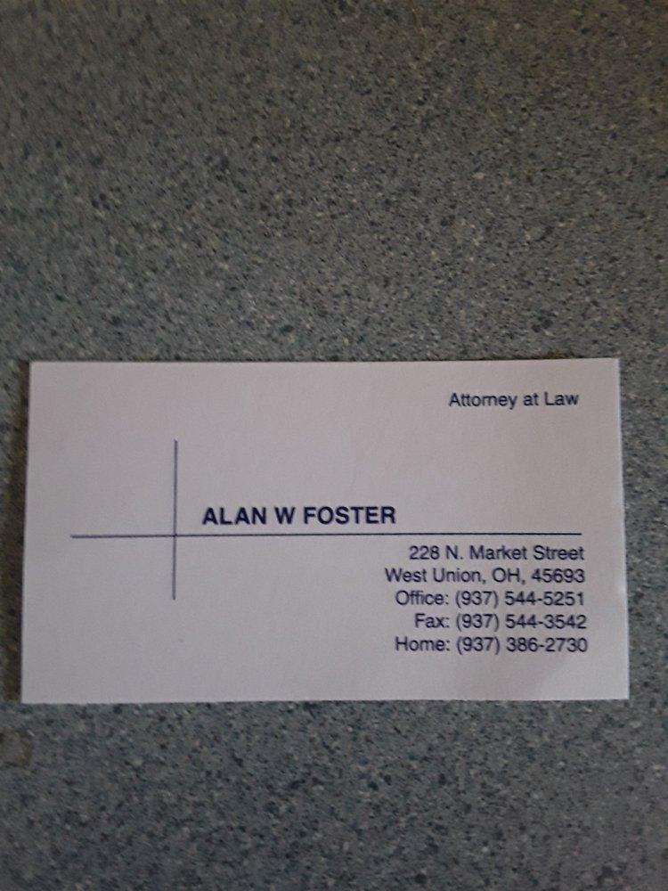 Foster Alan W Atty: 228 N Market St, West Union, OH