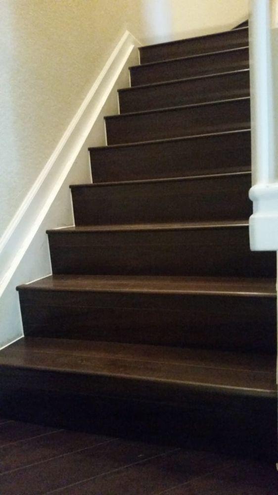 Parkay Classic Walnut Laminatw Flooring On Stairs Yelp