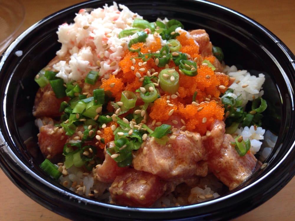 Regular Sushi Rice Poki Bowl W Salmon Tuna Masago Eggs