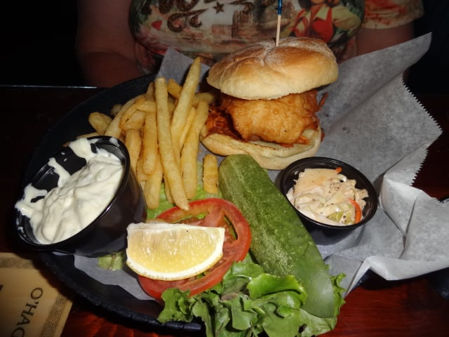 Fish sandwich at kc dubliner in burlington ct yelp for Fish sandwich near me