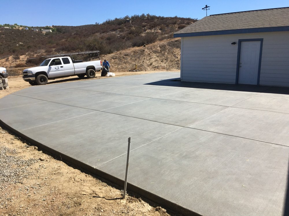 Concrete driveway broom finish Temecula 9 6 18 - Yelp