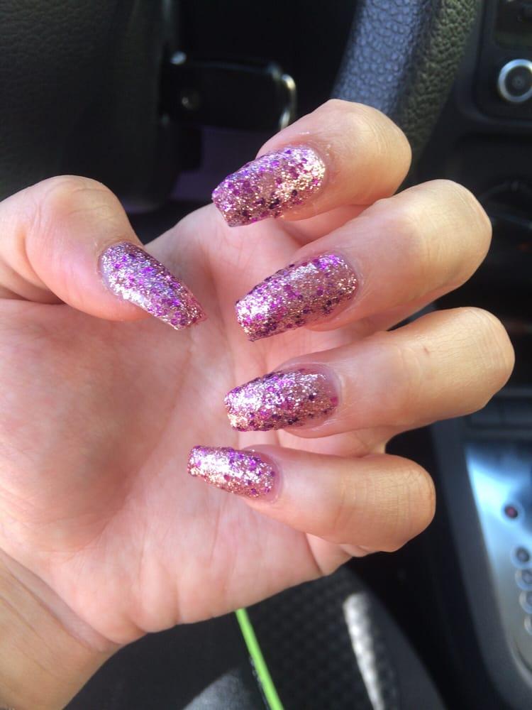Coffin nails w glitter - Yelp
