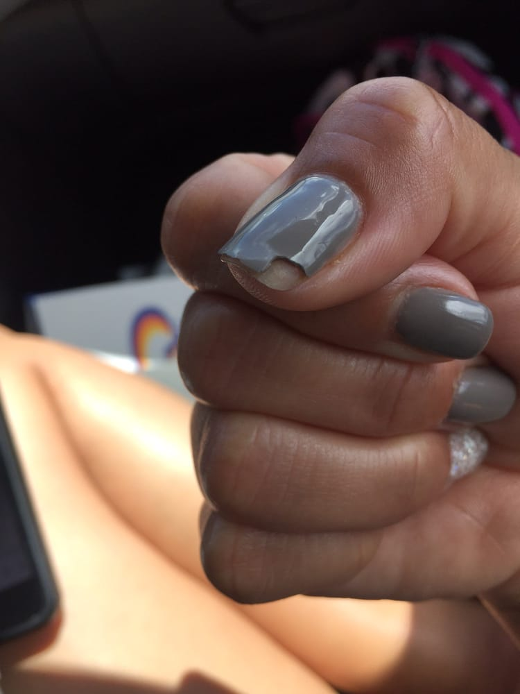 My gel nail started coming off 3 days after I had it done! The whole ...