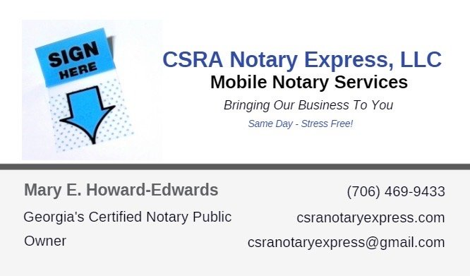 CSRA Notary Express: Evans, GA