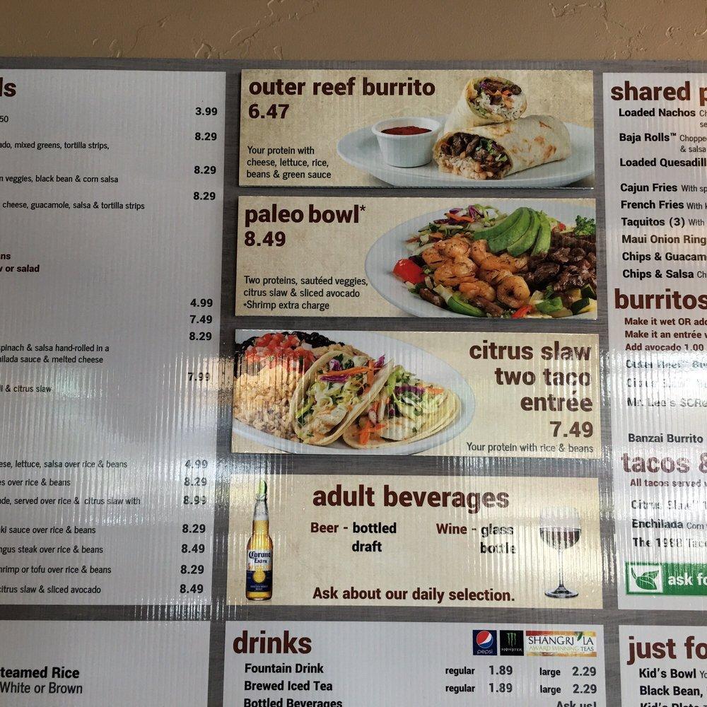 Photos for wahoo 39 s fish tacos menu yelp for Fish taco menu