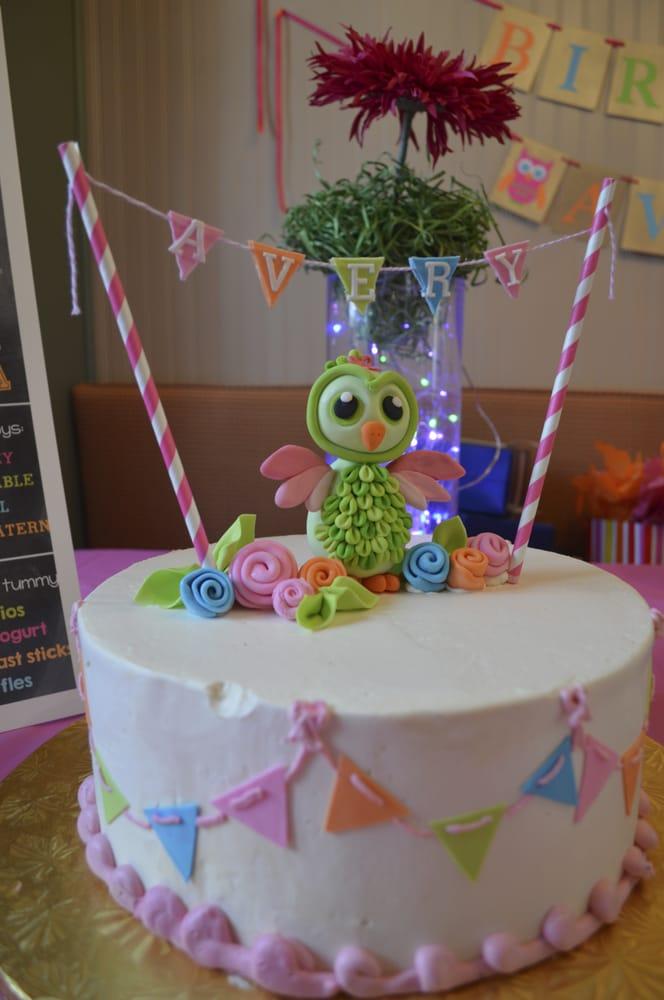 My Daughters First Birthday Cake Owl Theme Yelp