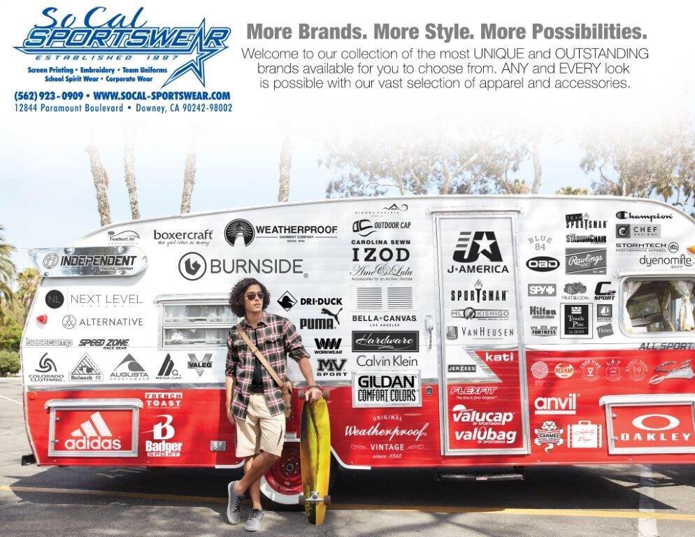 So-Cal Sportswear: 12844 Paramount Blvd, Downey, CA