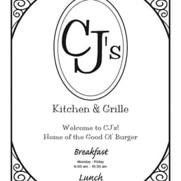 Cjs Kitchen And Grille Menu