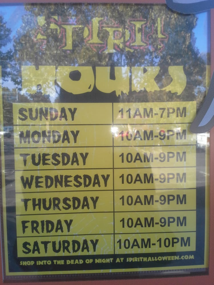 Spirit Halloween Store Hours, Fremont Hub Shopping Center, Fremont ...