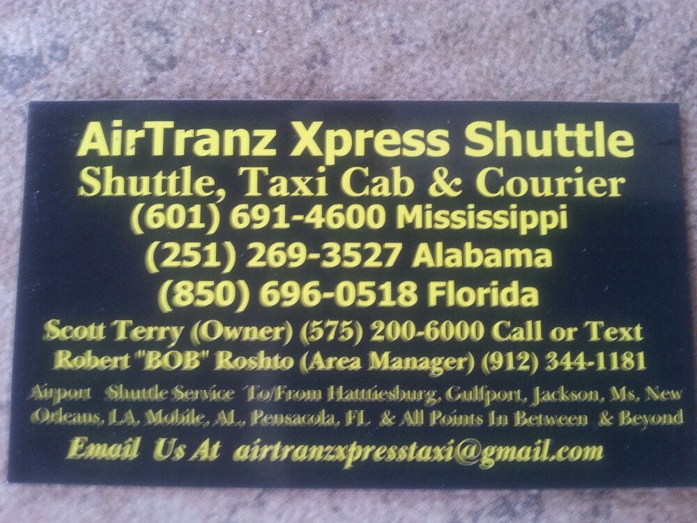 Camp Shelby Airport Shuttle & Taxi: Hattiesburg, MS