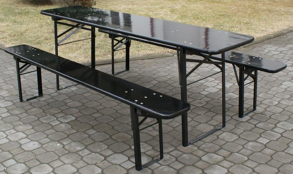Bavarian Beer Table Set, black varnish - Yelp