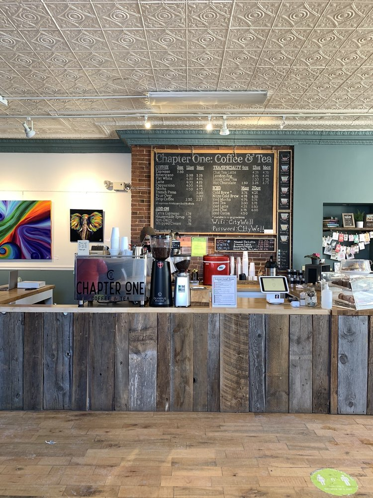 Chapter One Coffee And Tea: 30 City Hall Pl, Plattsburgh, NY