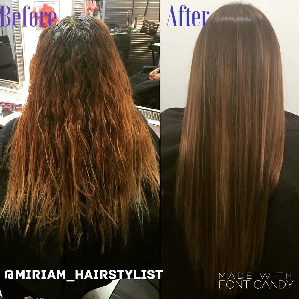 Before After Brazilian Blowout With Color And Highlights Yelp