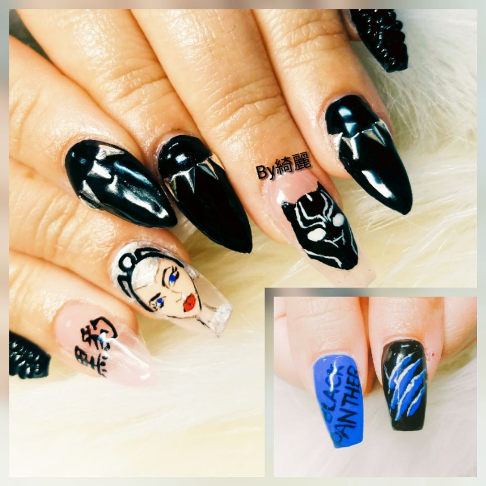 Black panther Nail by mimi ! All hand drawing! - Yelp