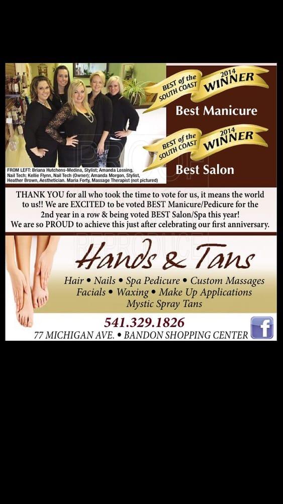 Hands & Tans: 183 11th St SE, Bandon, OR