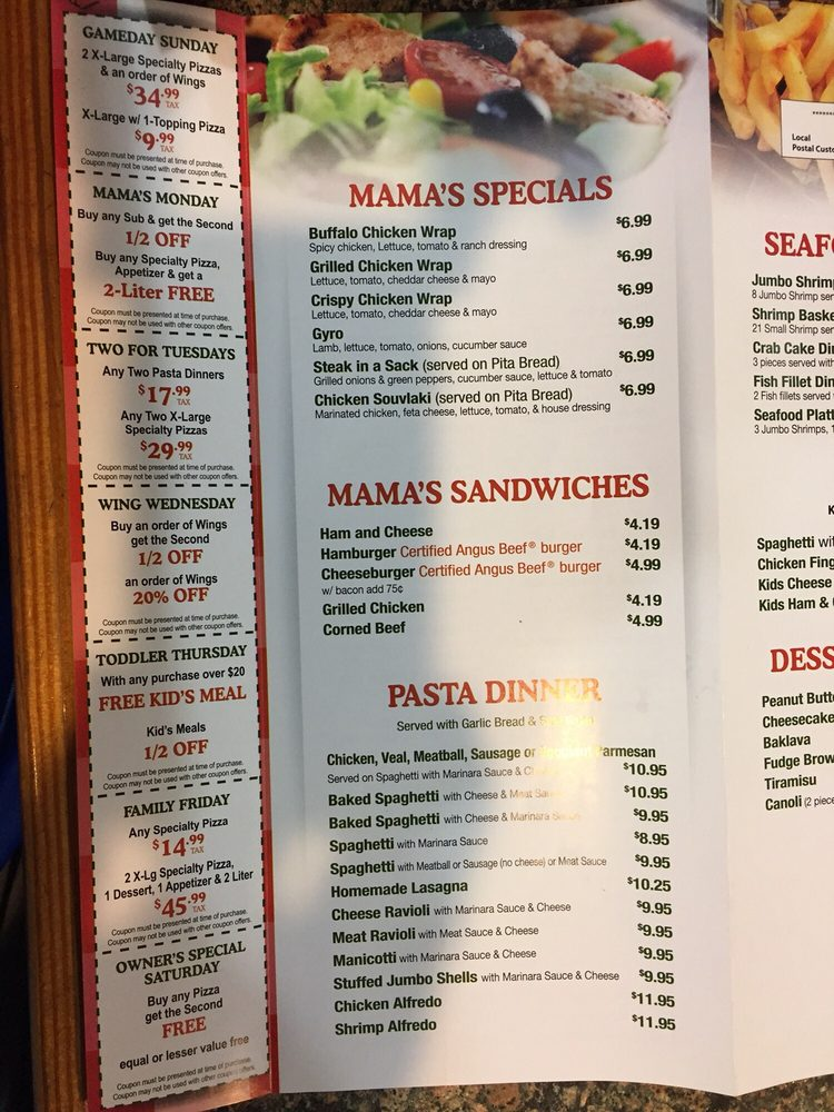 Mama's Pizza & Subs: 10020 Chester Rd, Chester, VA