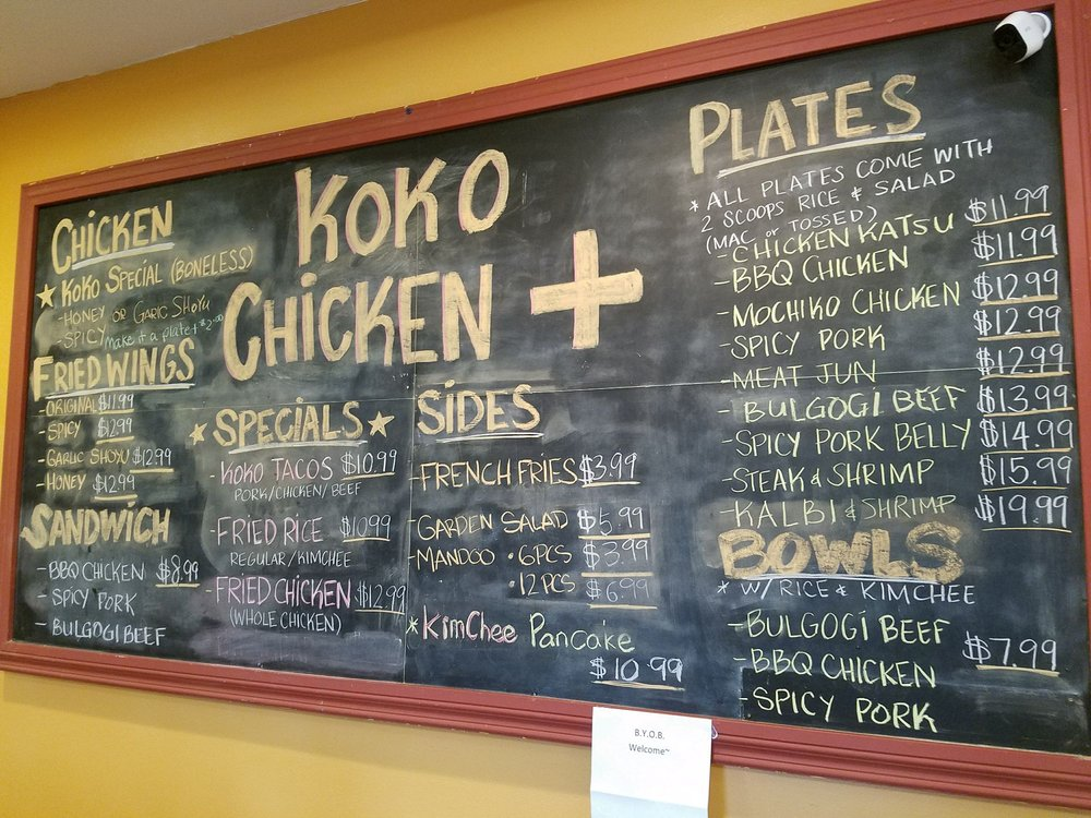 e192737c3c86 Chalkboard menu with prices that make sense. The Van goe of chicken ...