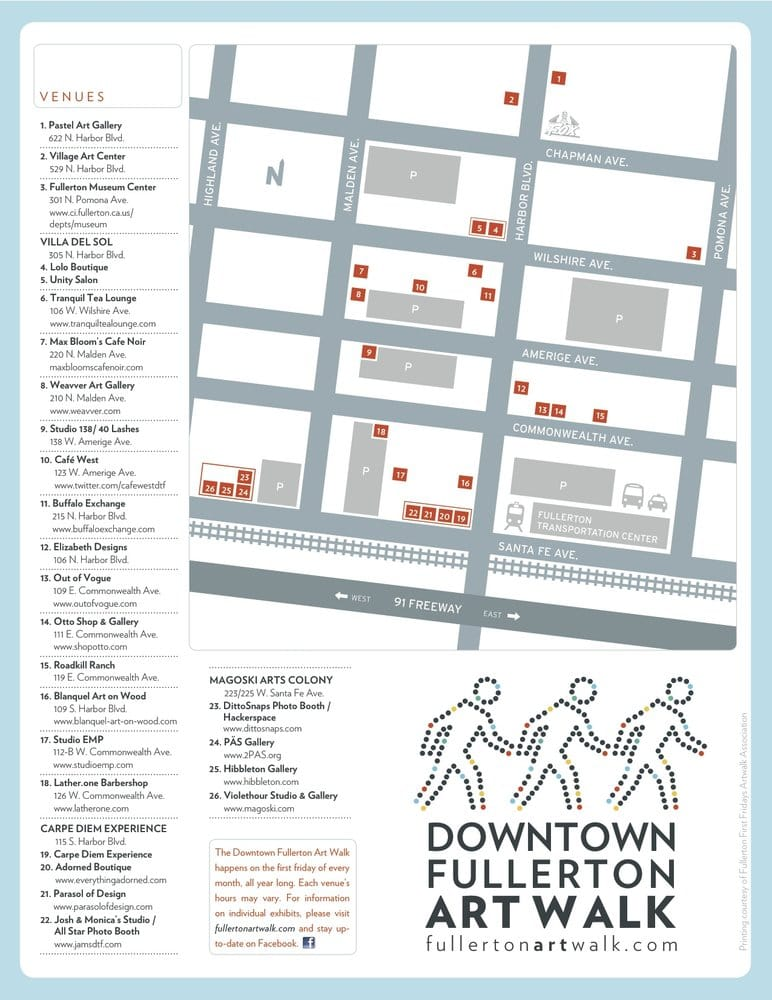 Fullerton Art Walk Map - Yelp on map tracy ca, map san luis obispo ca, map claremont ca, map victorville ca, map hayward ca, map temecula ca, map beverly hills ca, map artesia ca, map garden grove ca, map lake forest ca, map la palma ca, map irvine ca, map rialto ca, map of ca, map national forest california, map thousand oaks ca, map brea ca, map northridge ca, map la habra ca, map oceanside beaches,