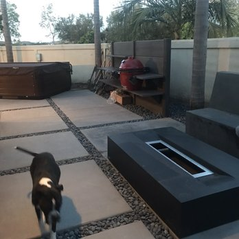 Wwoo Concrete Outdoor Kitchen 46 Photos Interior Design 129 Bungalow Dr El Segundo Ca